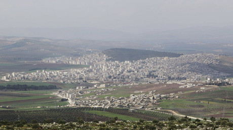 A general view shows the Kurdish city of Afrin, in Aleppo's countryside March 18, 2015. © Mahmoud Hebbo