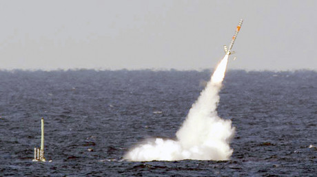 USS Florida launches a Tomahawk cruise missile © U.S. Navy / Reuters