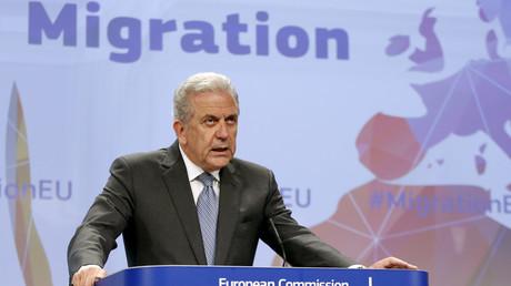 European Union Commissioner for Migration Dimitris Avramopoulos. © Francois Lenoir