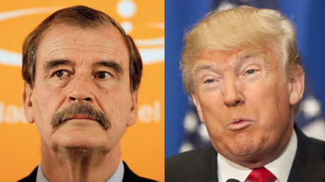Former Mexican president Vicente Fox (L) and US Republican presidential candidate Donald Trump. © Reuters / AFP