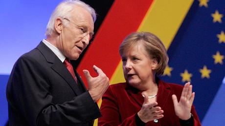 Edmund Stoiber, Angela Merkel © Fabrizio Bensch