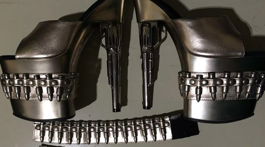 Killer fashion: Gun-shaped stiletto shoes confiscated at US airport
