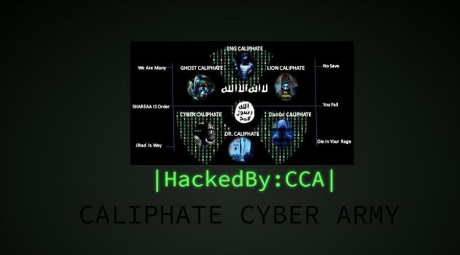 The homepage of Add Google Online, displaying a message from the Caliphate Cyber Army. © addgoogleonline.com