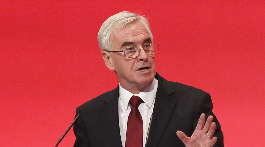 Britain's shadow Chancellor of the exchequer John McDonnell. © Luke MacGregor