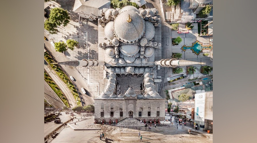 Inception city? Drone art bends Istanbul streets into mesmerizing patterns (PHOTOS)