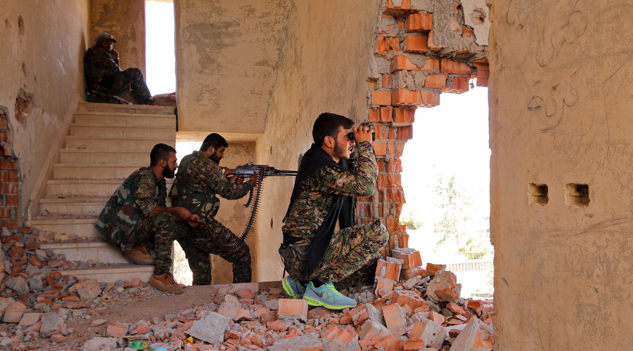Turkey shelling Syrian Kurdish militia in northern Aleppo - YPG