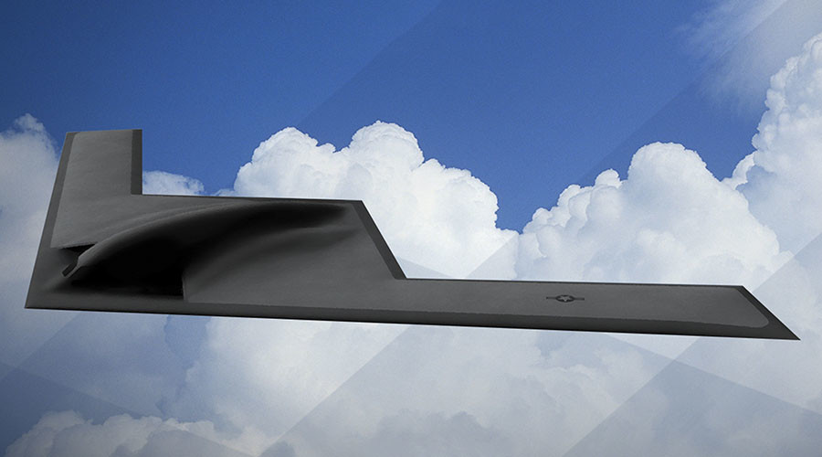 An artist rendering shows the first image of a new Northrop Grumman Corp long-range bomber B21 in this image released on February 26, 2016. © U.S. Air Force / Reuters