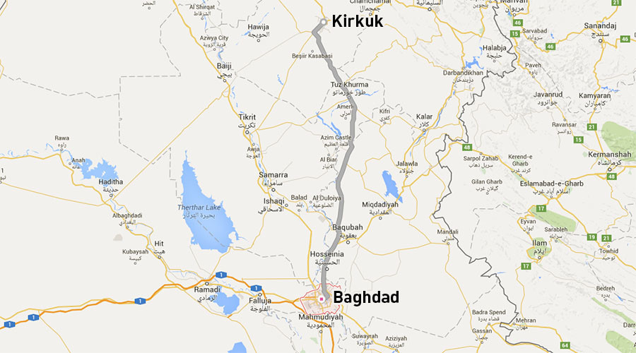 Hundreds block key highway in Iraq, demand airstrikes in response to ISIS chemical attack