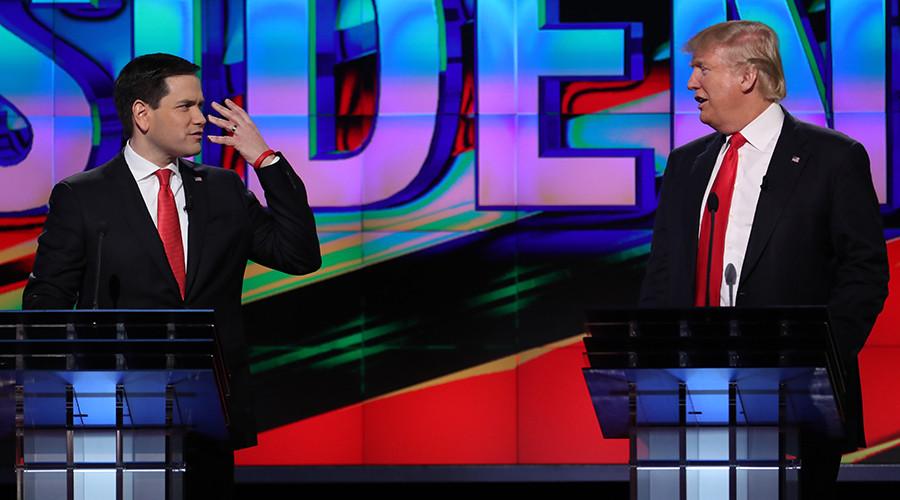 Republican U.S. presidential candidates Donald Trump (R) and Marco Rubio © Carlo Allegri