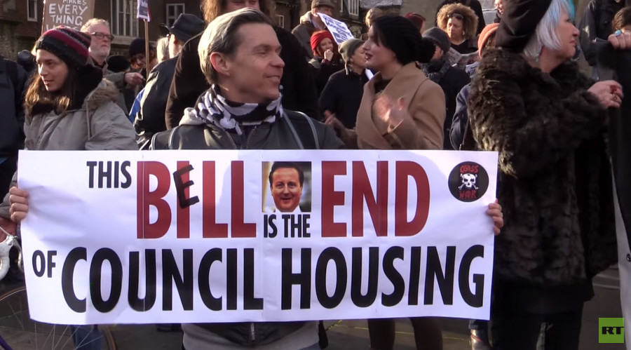 'Kill the Housing Bill!' Tenants protest Tory attacks on social housing