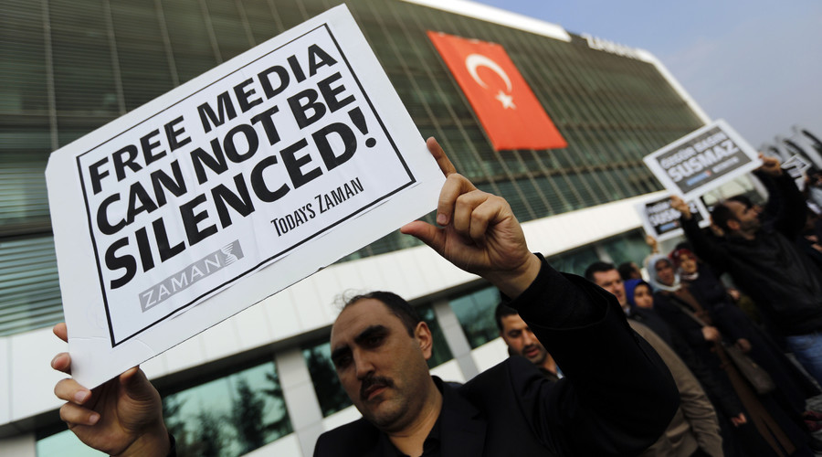 Journalists of Turkish newspaper 'feel like captives' after government seizure, sales drop 99%