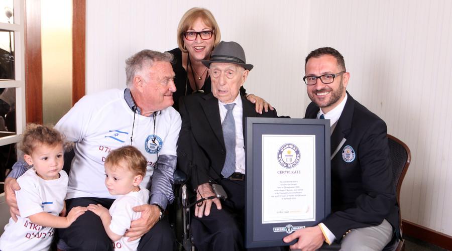 'I don't know the secret': Holocaust survivor named 'world's oldest living man'