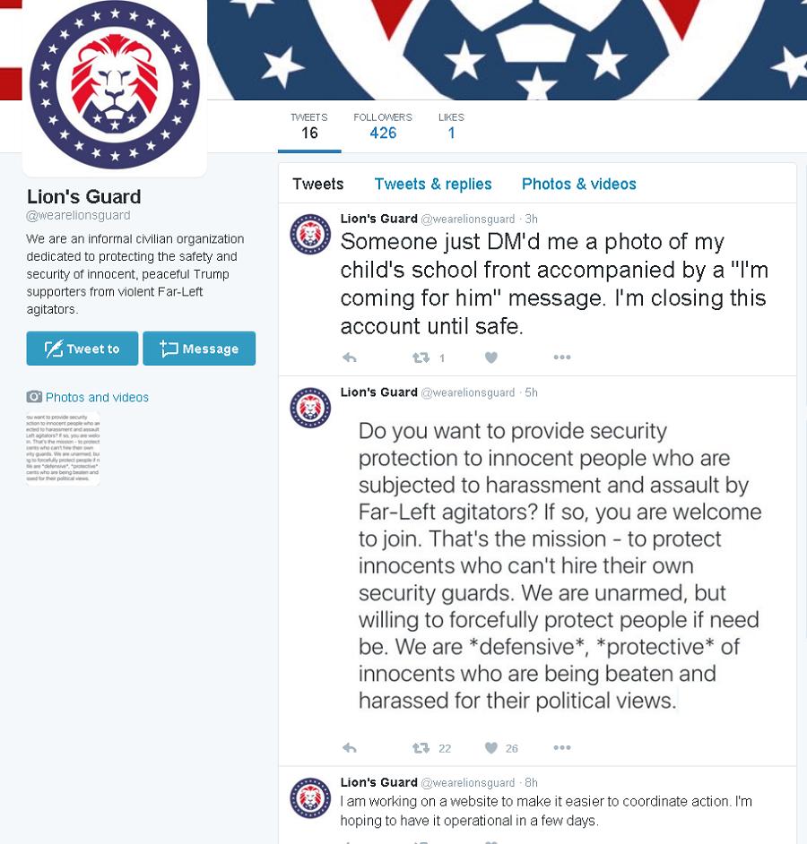 A screenshot from Twitter / @wearelionsguard