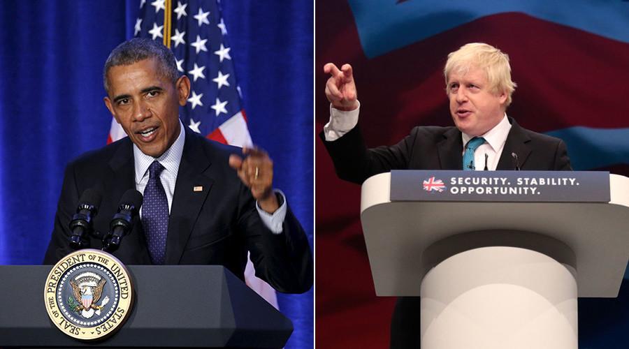 Boris v Barack: London mayor accuses Obama of Brexit 'hypocrisy'