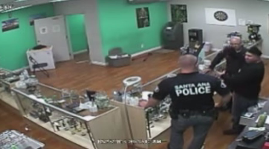 Cops caught on camera eating sweets after raiding medical marijuana dispensary will be charged