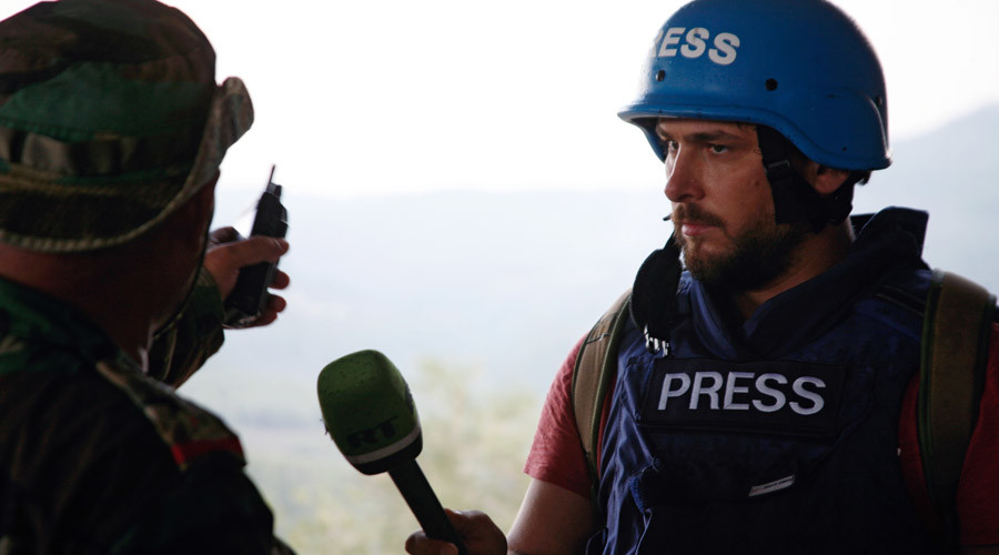 'Hell for journos':  RT crews came under fire 8 times doing war-zone reports from Syria
