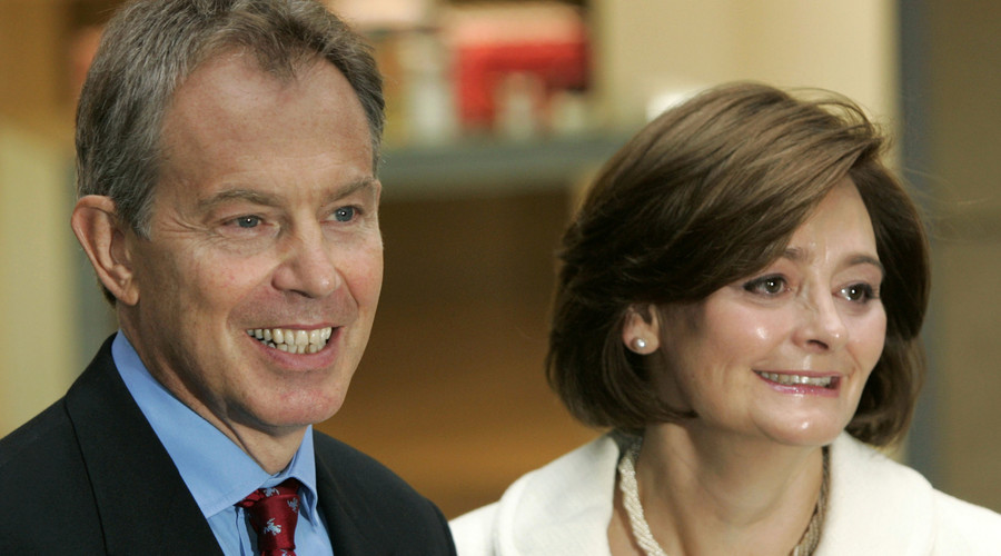 Tony Blair and his wife Cherie. © Luke MacGregor