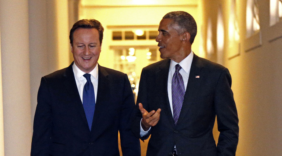 British Prime Minister David Cameron and U.S. President Barack Obama. © Kevin Lamarque
