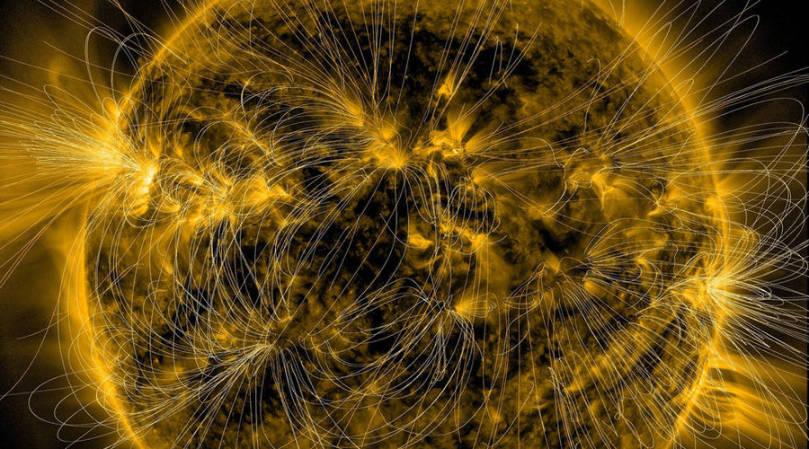 NASA displays sun's 'invisible' magnetic fields in amazing detail (PHOTO)