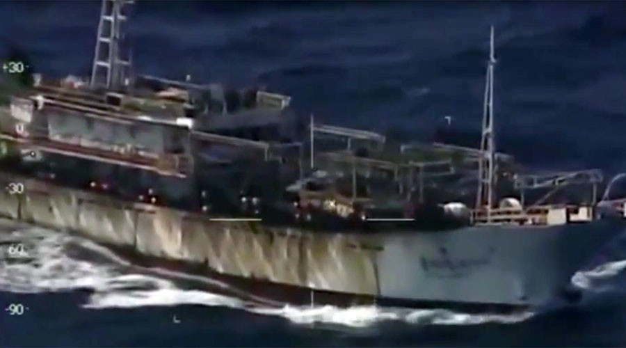 Argentina shoots & sinks Chinese trawler for alleged illegal fishing (VIDEO)