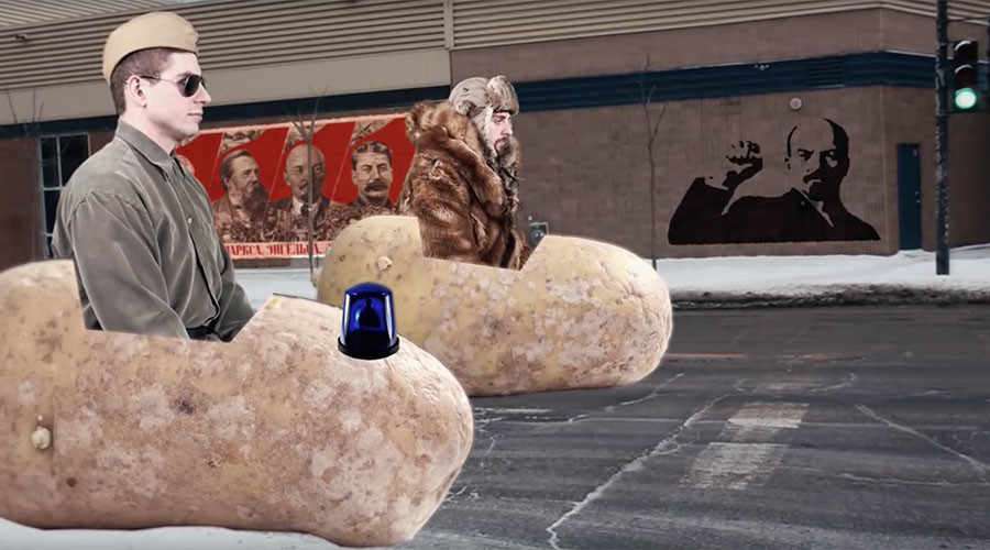 Flying potatoes & Russian vodka: Mock ad offers lesson in sharing (VIDEO)