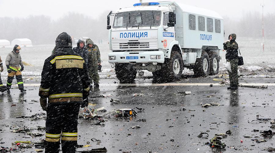 The site of the Boeing-737-800 passenger jet crash at Rostov-on-Don airpot © Stringer