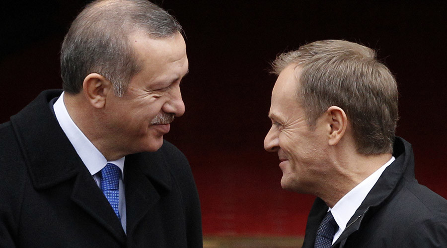 European Council President Donald Tusk and Turkish President Tayyip Erdogan © Kacper Pempel