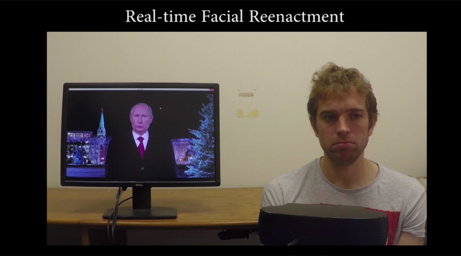 Incredible facial reenactment tech manipulates Putin, Trump videos in real time (VIDEO)