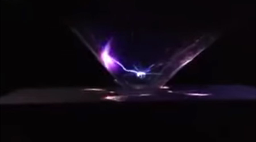 Amazing hologram 'lightning' beamed from iPhone (VIDEO)