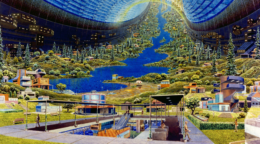 To Infinity: How NASA envisioned life aboard giant spaceships back in 1970s (PICTURES)