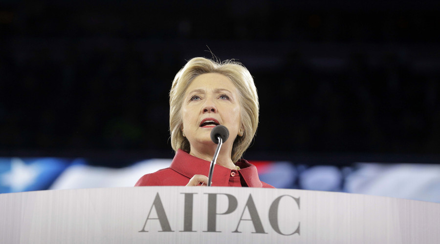Democratic U.S. presidential candidate Hillary Clinton addresses the American-Israeli Public Affairs Committee (AIPAC) Conference's morning general session at the Verizon Center in Washington March 21, 2016. © Joshua Roberts