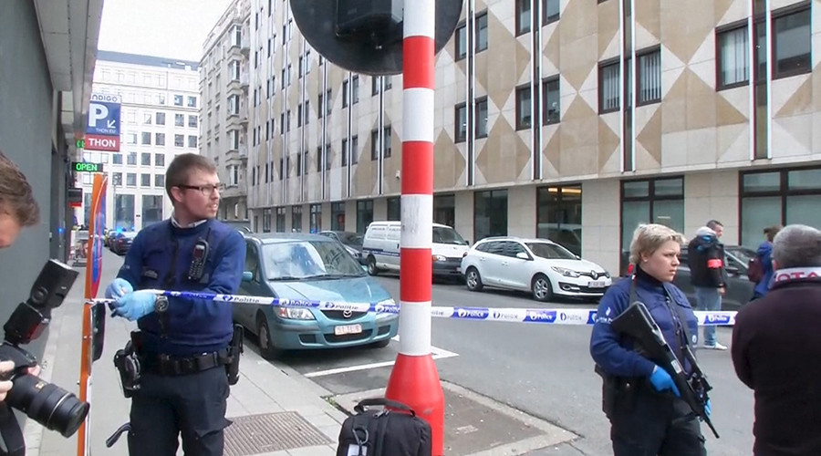 Blast heard in Brussels street where EU institutions are located was controlled – police