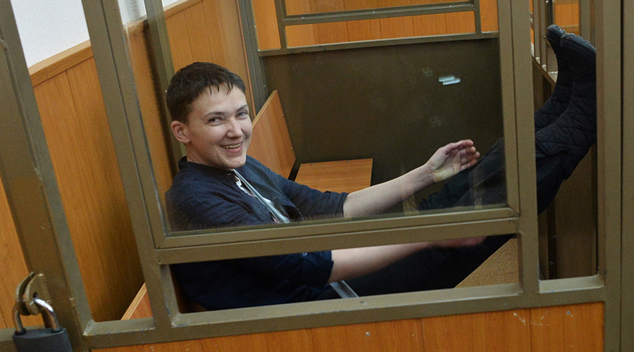 Ukrainian pilot Savchenko gets 22 years in Russian prison, sings through reading of final verdict