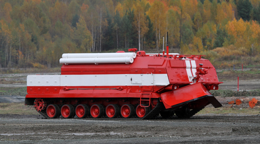 Special firefighting vehicle SPM based on Russian T-80 tank components. © Алексей Китаев