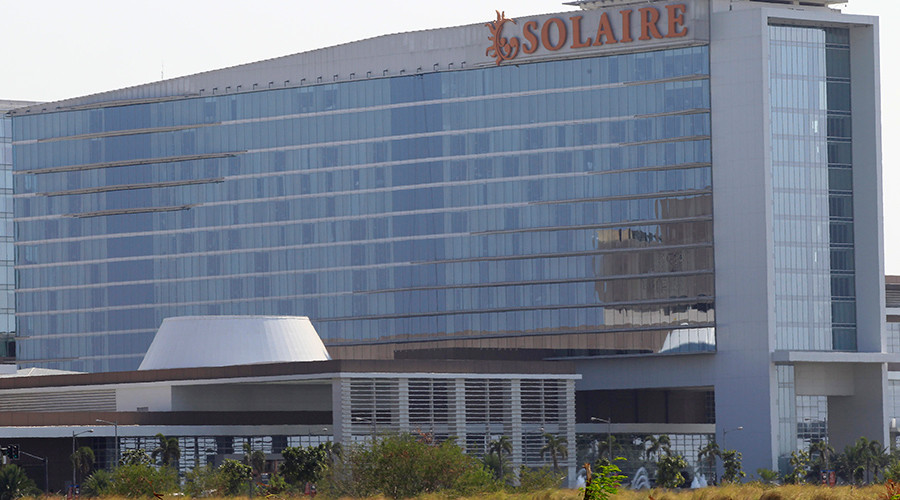 The Solaire Hotel and Casino, Philippines. The Senate hearing regarding the case of money laundering involving the theft of $81 million from the U.S. account of the Bangladesh Bank was told $29 million of Bangladesh's money was transferred to the Solaire casino © Romeo Ranoco