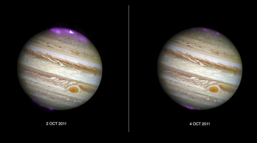 Jupiter dazzles with 'Northern Lights' after solar storms (PICTURES)