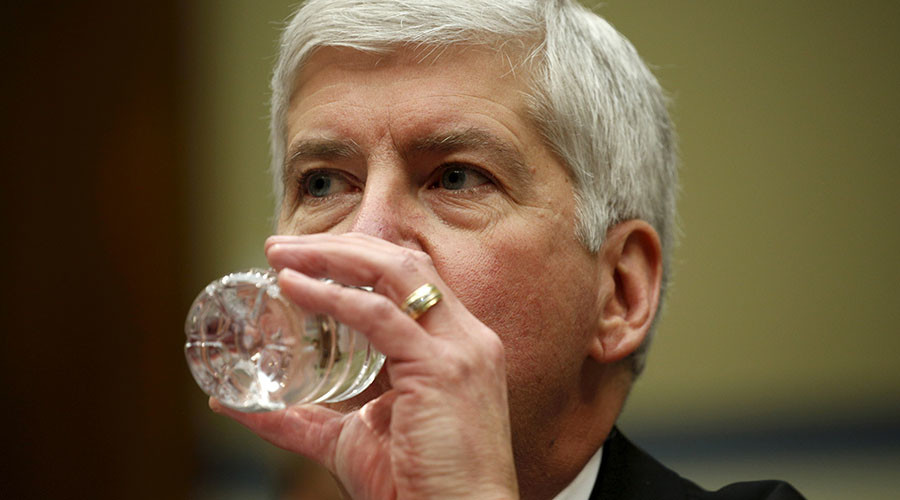 Michigan Governor Rick Snyder. © Kevin Lamarque