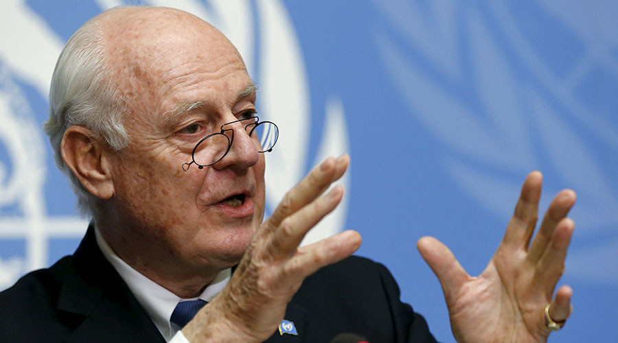 U.N. mediator for Syria, Staffan de Mistura. © Denis Balibouse