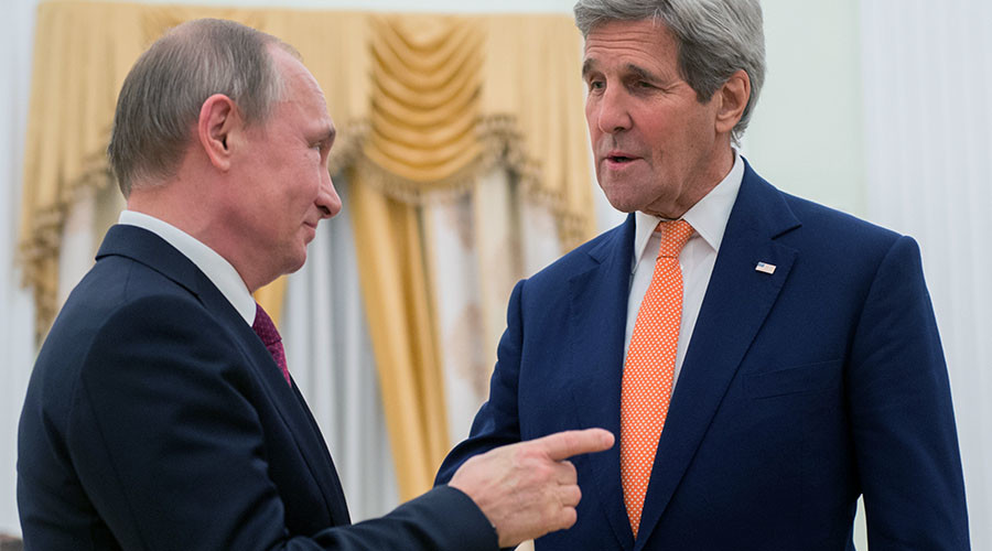 Putin trolls Kerry, says he brought money 'to haggle with' (VIDEO)