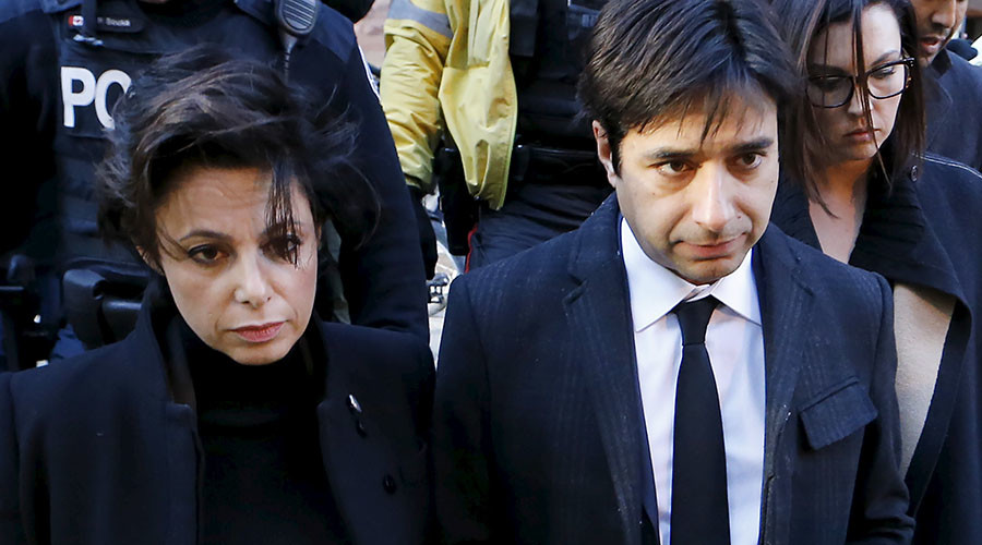 Jian Ghomeshi, a former celebrity radio host who has been charged with multiple counts of sexual assault, leaves the courthouse after the first day of his trial alongside his lawyer Marie Henein (L), in Toronto, February 1, 2016. © Mark Blinch