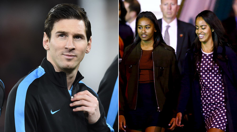 Messi-mania: Even Barack Obama's daughters want to meet Argentine legend