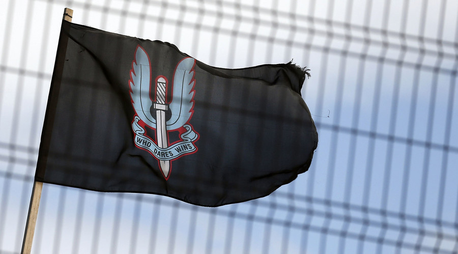 A flag bearing the emblem of the Special Air Services (SAS). © Cathal McNaughton