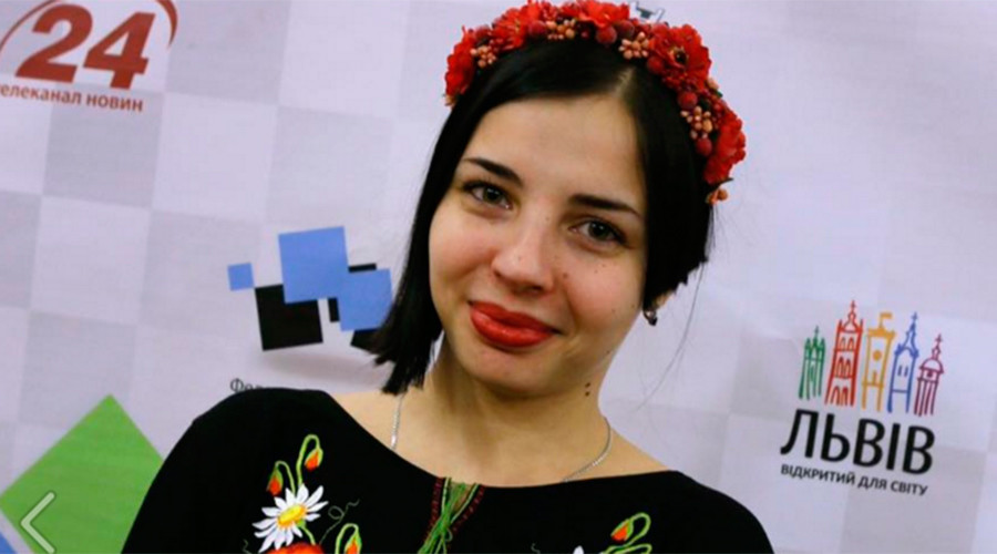 Anastasia Rakhmangulova, Ukraine's 2015 chess champion © Nastya Rakhmangulova
