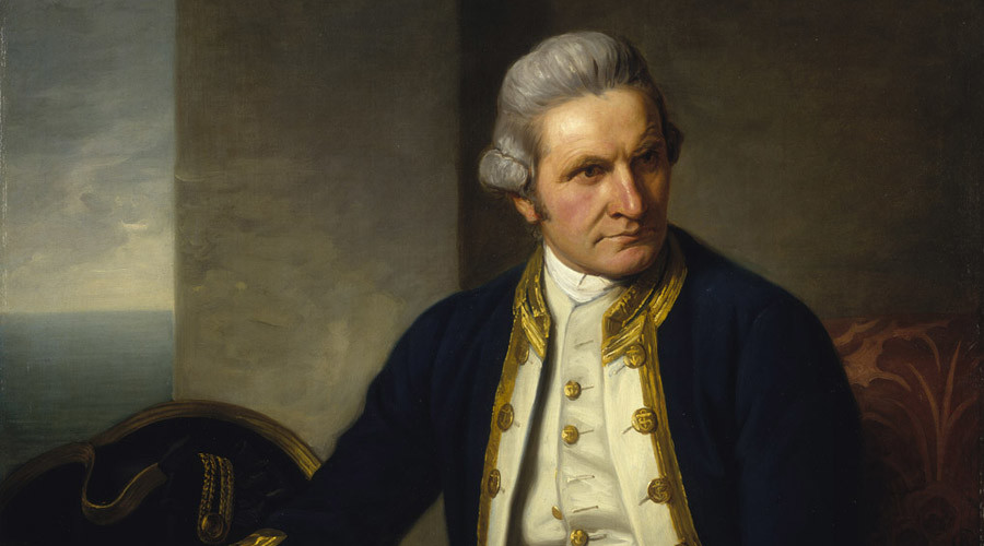 Lieutenant James Cook was the first European to achieve contact with the eastern coastline of Australia in 1770. © National Maritime Museum, United Kingdom