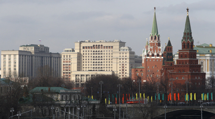 The Kremlin towers in central Moscow, Russia© Sergei Karpukhin