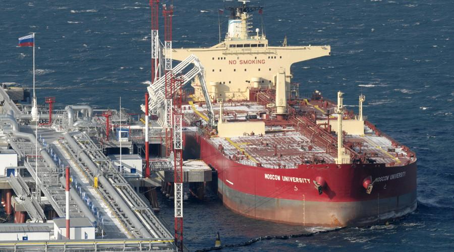 A Moscow University oil tanker at Kozmino port © Yuri Maltsev