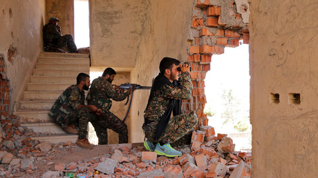 Kurdish People's Protection Units (YPG) fighters. © Rodi Said