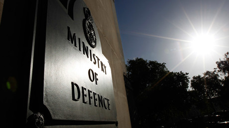 The Ministry of Defence building is seen in London © Suzanne Plunkett