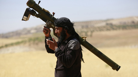 An Islamist Syrian rebel group Jabhat al-Nusra fighter © Hamid Khatib