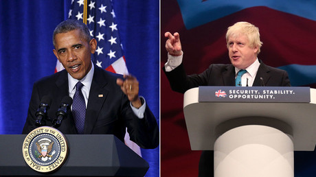 US President Barack Obama and London mayor Boris Johnson © Stringer